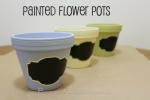 DIY: Painted Flower Pots