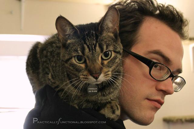 Finnegan on JM's shoulder