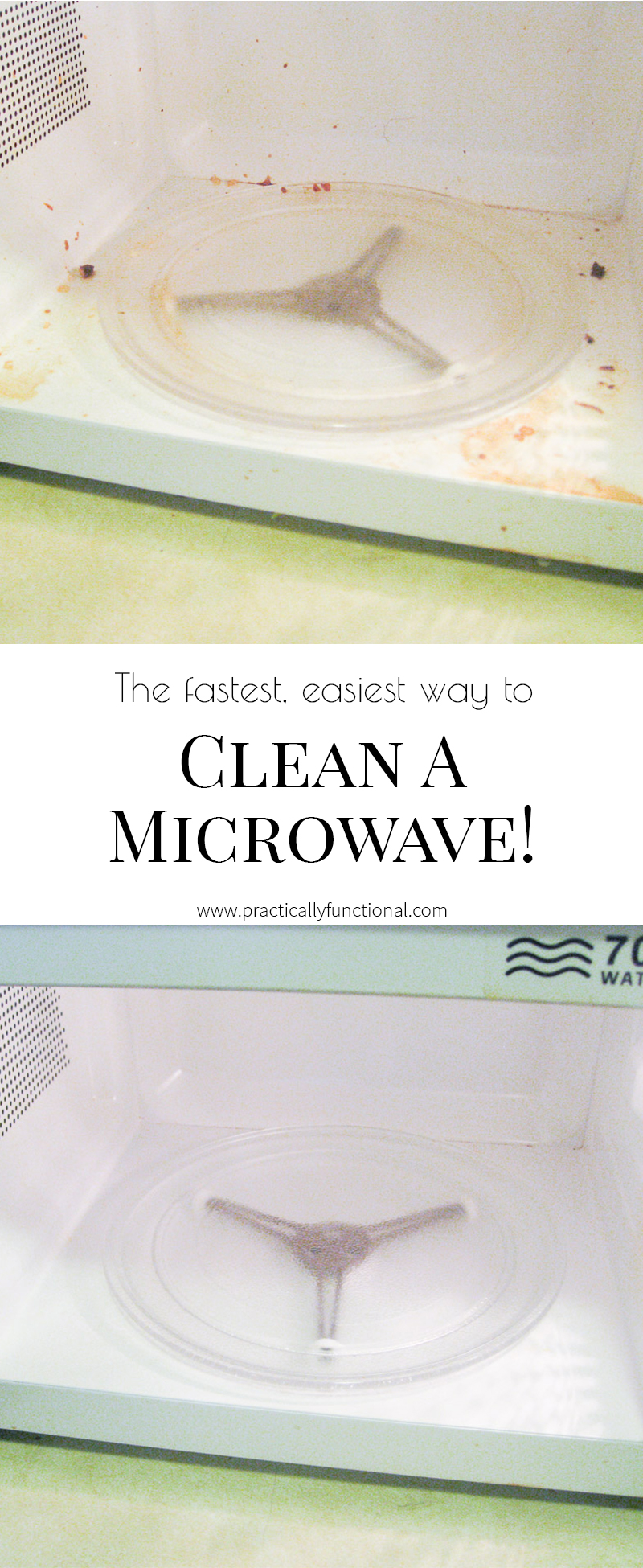 Clean a microwave in minutes! All you need is vinegar and water!