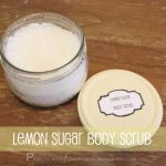 Lemon sugar body scrub recipe