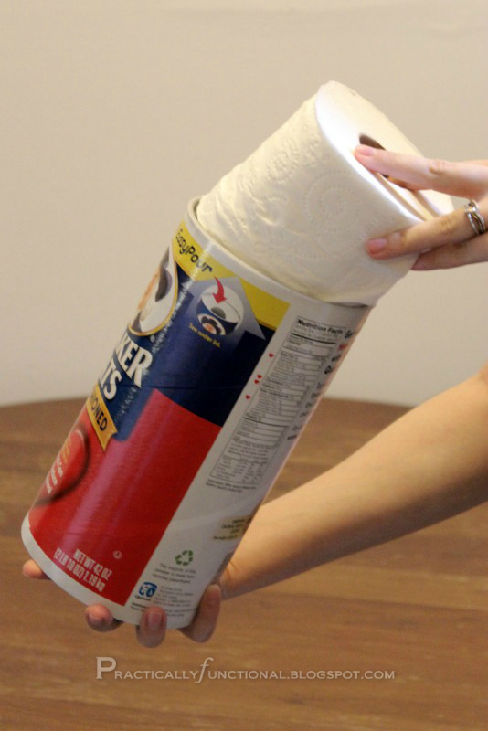 Upcycle Oatmeal Canister To Toilet Paper Holder
