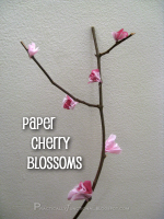 Tissue Paper Cherry Blossoms