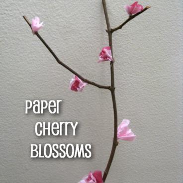 Tissue Paper Cherry Blossoms