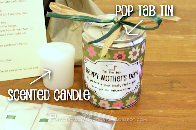 Pop tab tin and scented candle