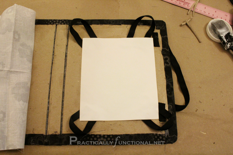 DIY iPad Cover: Attached Elastic Holder