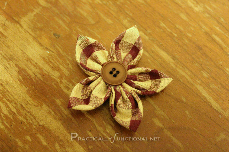 Practically Functional: Fabric Flower