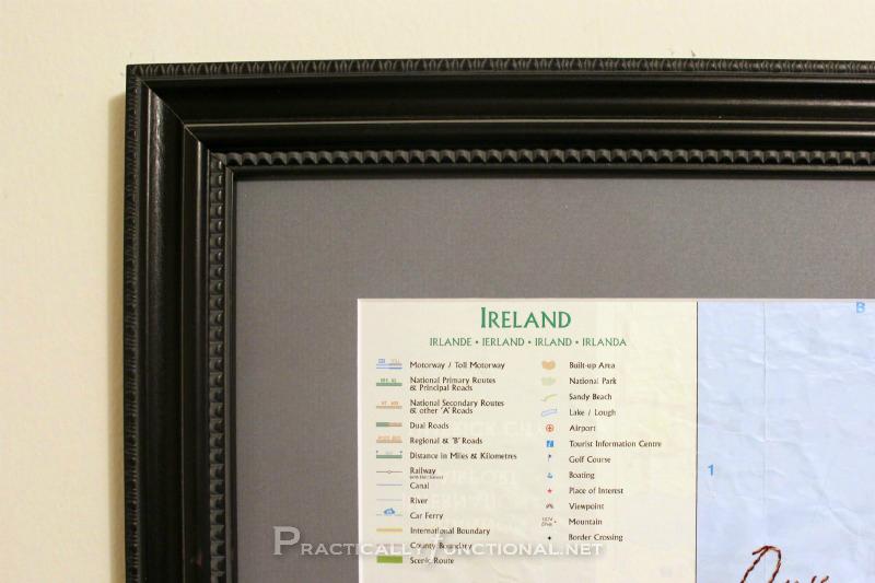 Embroider A Map: Framed Corner
