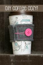 DIY Felt Coffee Cozy Tutorial