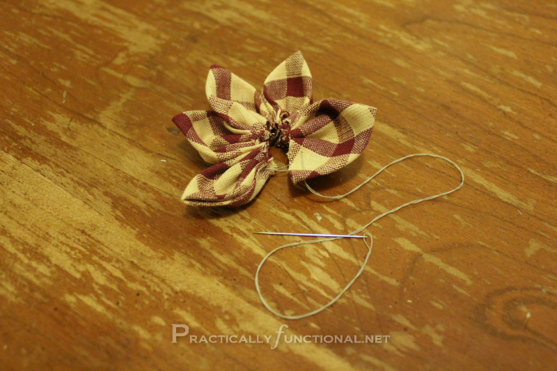 Fabric flower tutorial: Five Petals