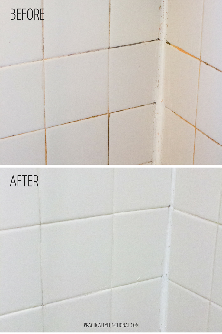 clean grout with this homemade grout cleaner with bleach and baking soda