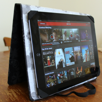 DIY iPad Cover: iPad Stand Tall