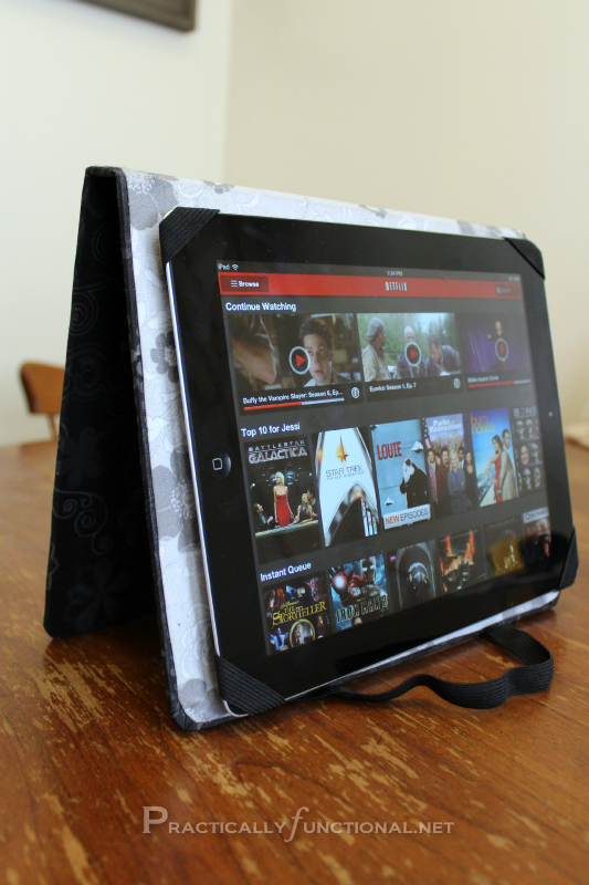 DIY iPad Cover Tutorial: iPad Stand Tall