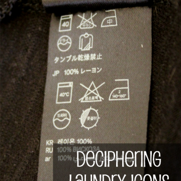 Deciphering Laundry Icons