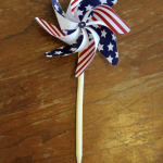 Make your own 4th of July pinwheels