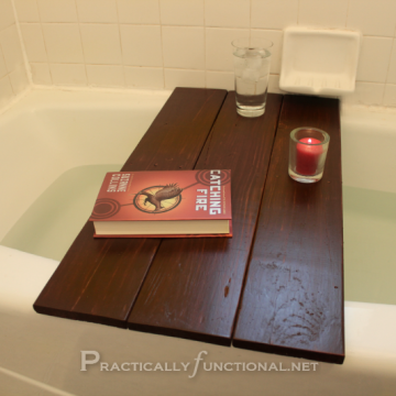 Tutorial: Upcycle a pallet to a bath shelf by PracticallyFunctional.net