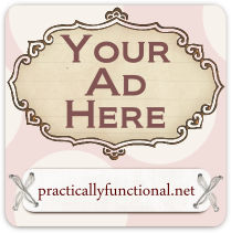 Ad space sale at Practically Functional! 50% off all ads through 9-30!
