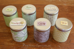 Decorated Canisters For Storing Dried Herbs