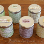 Decorate canisters for storing dried herbs
