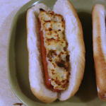 Mashed potato stuffed hot dogs