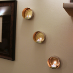 DIY Wall-Mounted Tin Can Tea Lights