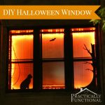 DIY Halloween Window Decor With Vinyl And Lights