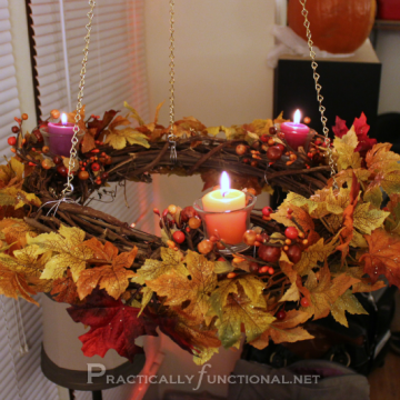 Fall Wreath Chandelier