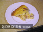 Recipe: Quiche Lorraine (with ham!)