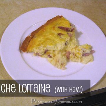 Recipe: Quiche Lorraine (with ham!)