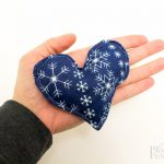 Blue/White Snowflake Hand Warmers (Hearts)