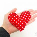 Red/White Polka Dot Hand Warmers (Hearts)