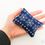 Blue/White Snowflake Hand Warmers (Rectangles)