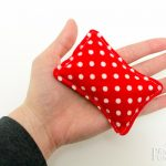 Red/White Polka Dot Hand Warmers (Rectangles)
