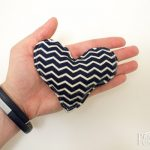 Navy/Cream Chevron Hand Warmers (Hearts)