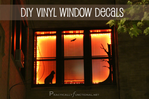Halloween Decorations: DIY Vinyl Window Stickers!