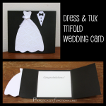 DIY Wedding Card: Dress & Tux Trifold {+ Printable}