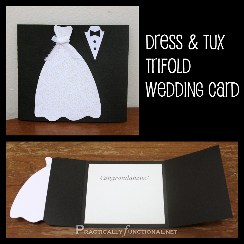 DIY Wedding Card: Dress & Tux Trifold {+ Printable} - Practically ...