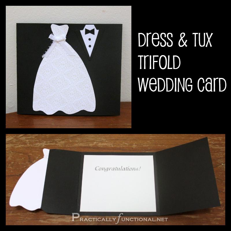 Diy Wedding Invitations Pinterest: DIY Wedding Card: Dress & Tux Trifold {+ Printable