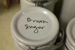 Kitchen Organizing: Labels On Jars