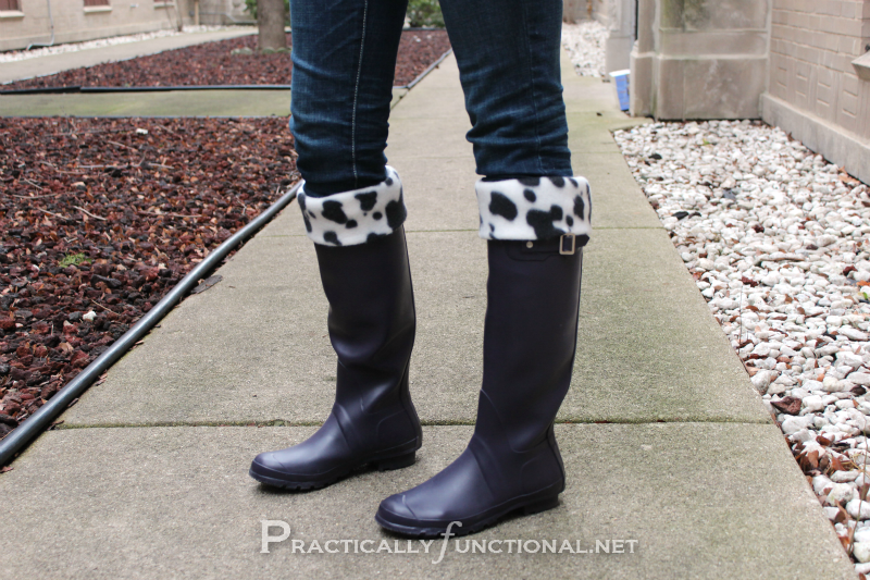 DIY Rain Boot Liners! - Practically Functional