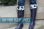 DIY Rain Boot Liners!