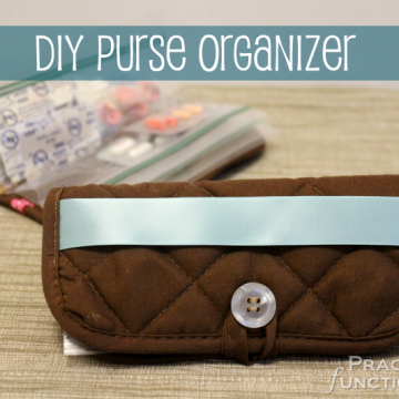 DIY Purse Organizer From A Hot Pad