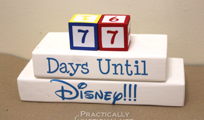 Disney Countdown Blocks