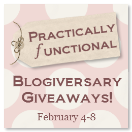 Practically Functional Blogiversary Giveaways!