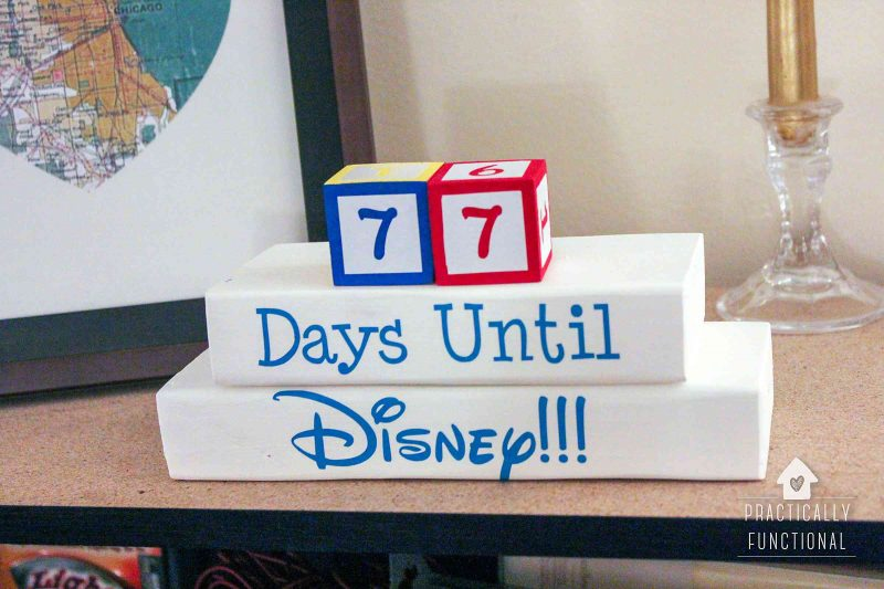 Make a disney countdown clock cut files available