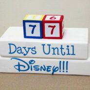 Make your own disney countdown clock with these cut files