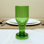Recycled Beer Bottle Goblets