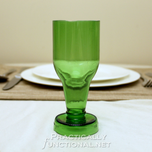 DIY Beer Bottle Goblets