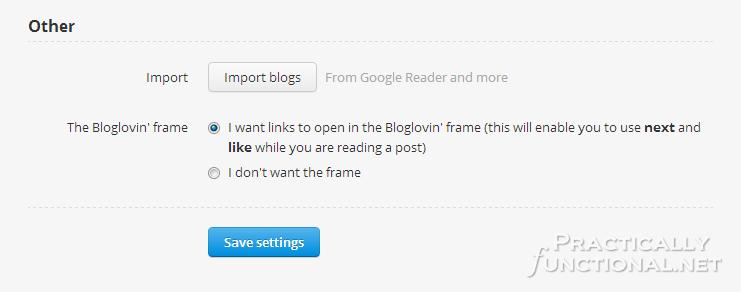 Google Reader Alternatives: Bloglovin' Import