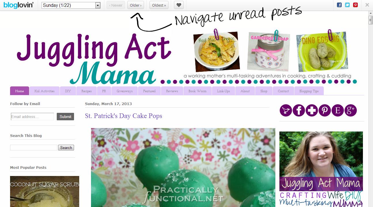 Google Reader Alternatives: Bloglovin' Frame Reader