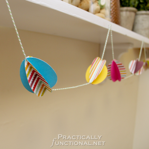 Practically Functional: Paper Easter Egg Garland